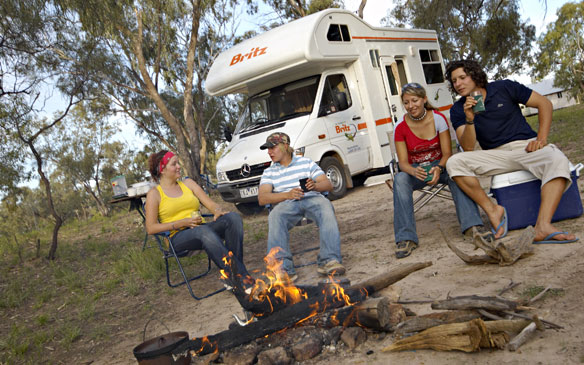 Britz camper huren in Alice Springs