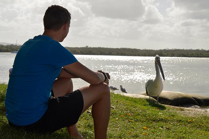 Mike aan het dierenspotten in Australië