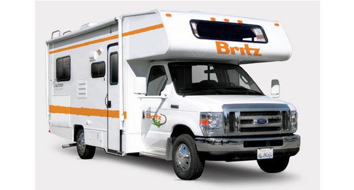 Britz 4 Berth Camper huren in Amerika