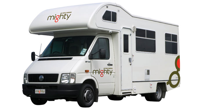 Mighty Double Up camper huren in Australië