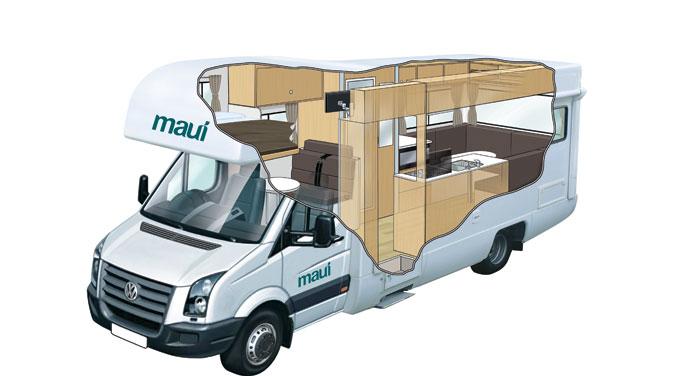 Maui Beach camper huren in Australië
