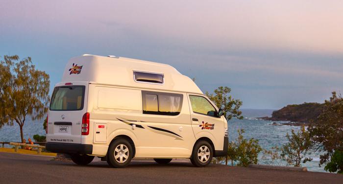 Hippie Endeavour camper huren in Australië