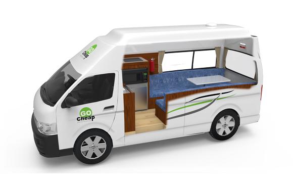 Go Cheap HiTop camper huren in Australie