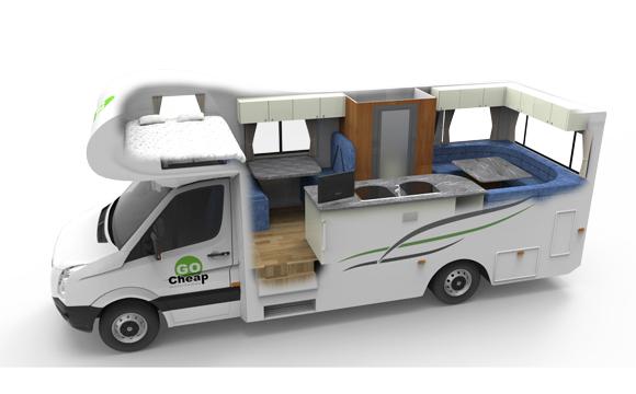 Go Cheap Derwent camper huren in Australie