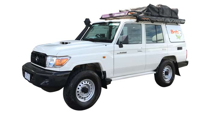 Britz Safari Landcruiser 4WD huren in Australië