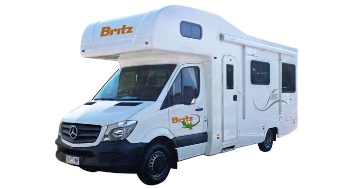 Britz Frontier camper huren in Australië