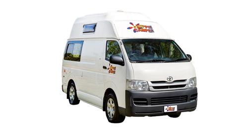 Hippie HiTop Campervan huren in Nieuw-Zeeland