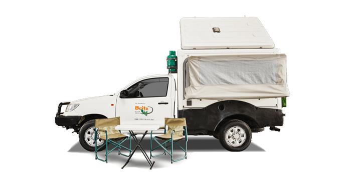 Britz TRAX camper huren in Africa