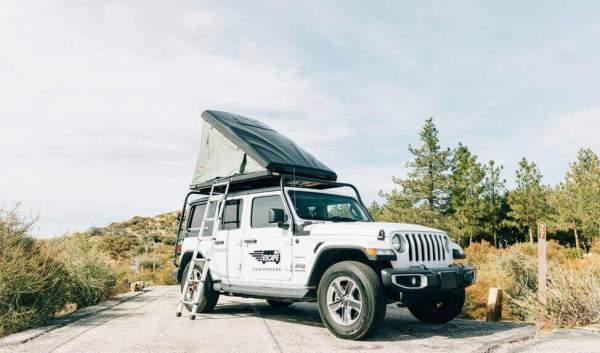 Escape Jeep camper huren in Amerika