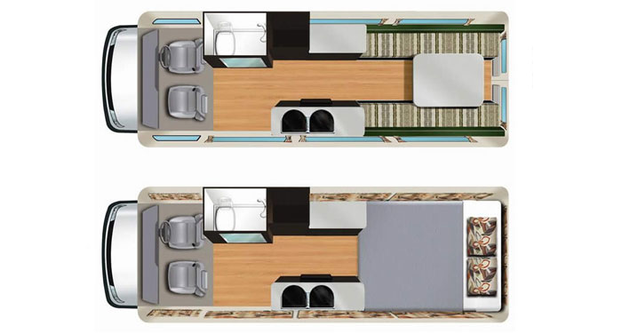 Star RV Aquila RV  inside