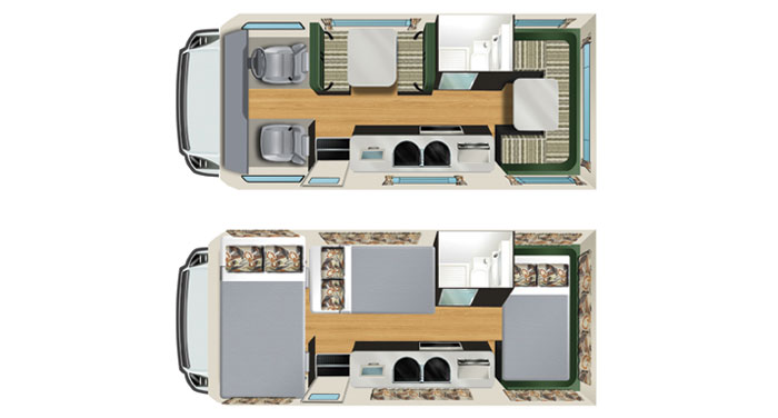 Cheapa Campa 6 Berth inside