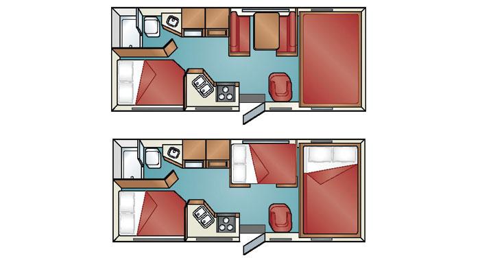 Cruise Canada C-25 motorhome inside