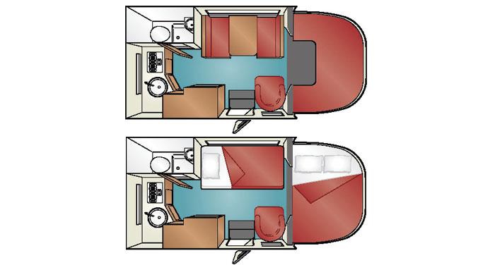 Cruise Canada C-19 Compact Motorhome inside