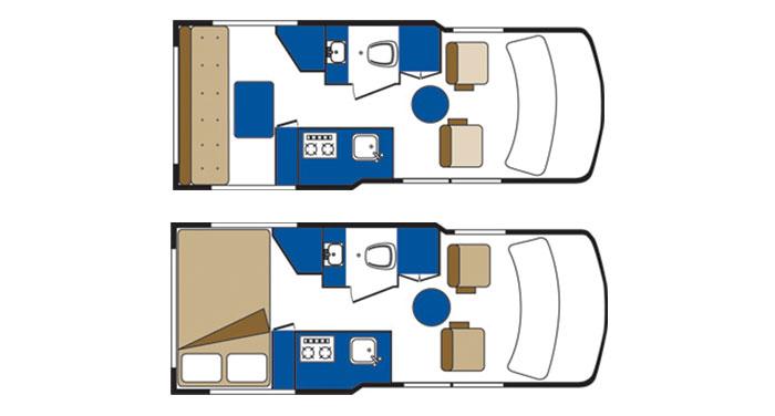 Canadream Deluxe Van inside