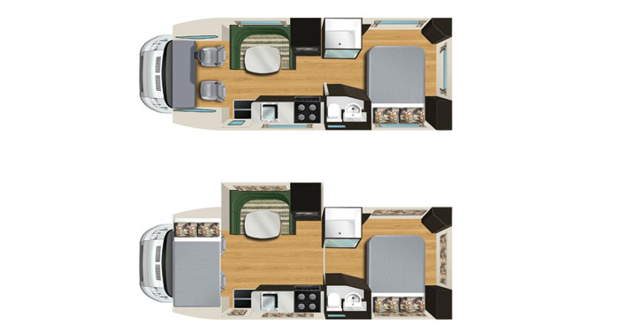 Star RV Pegasus 4 Berth inside