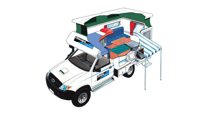 Cheapa Campa 4WD camper