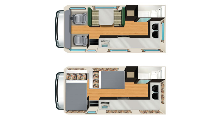 Apollo Euro Camper 4 Berth inside