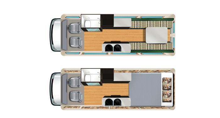 Apollo Euro Tourer 2 Berth inside