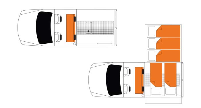 Britz Safari Landcruiser 4WD inside