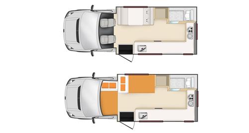 Apollo Euro Camper 4 Berth inside