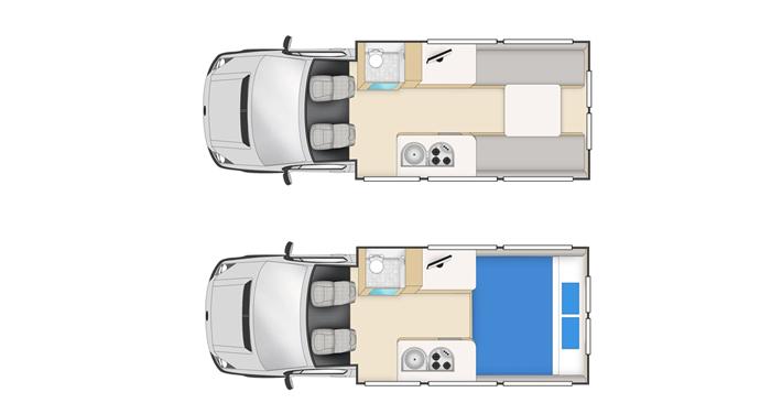 Cheapa Campa 2 berth S-T inside