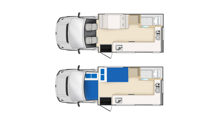 Cheapa Campa 4 berth inside